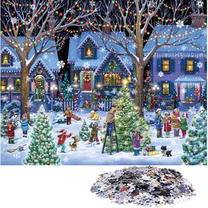 1000 pcs big price cut glowing house jigsaw puzzle 5fcc50e0c25ce - 1000 Pcs Big Price Cut Glowing House Jigsaw Puzzle