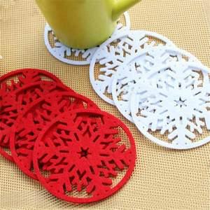 10pcs set christmas snowflakes coaster 5fd82eecceae6 - 10pcs/set  Christmas Snowflakes  Coaster