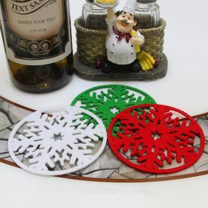10pcs set christmas snowflakes coaster 5fd82eeee877f - 10pcs/set  Christmas Snowflakes  Coaster