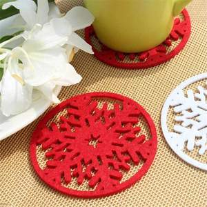 10pcs set christmas snowflakes coaster 5fd82eef669ec - 10pcs/set  Christmas Snowflakes  Coaster