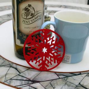 10pcs set christmas snowflakes coaster 5fd82eefde5cf - 10pcs/set  Christmas Snowflakes  Coaster