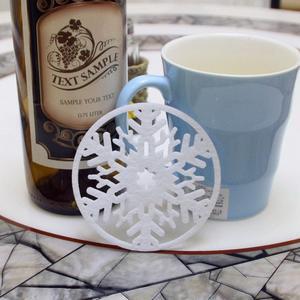 10pcs set christmas snowflakes coaster 5fd82ef121c42 - 10pcs/set  Christmas Snowflakes  Coaster