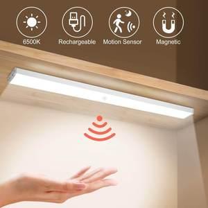 10 pcs motion sensor stick on closet led light under cabinet magnetic strip wall light 600651f609ca5 - 10 Pcs Motion Sensor Stick-On Closet LED Light Under Cabinet, Magnetic Strip Wall Light