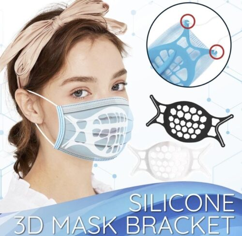 silicone 3d mask bracket 4pcs 60025944174df 500x487 - Silicone 3D Mask Bracket (4PCS)